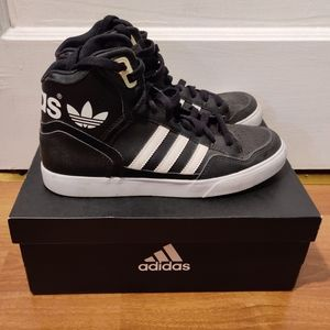 Adidas Black And White High Top Sneakers